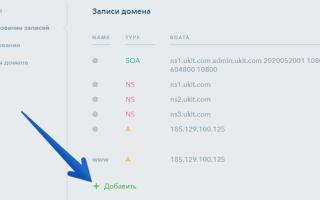 Управление записями домена